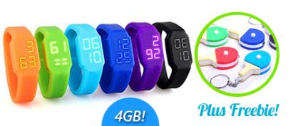 4GB USB-LED Watch by nomadnine.com (62% Off!)