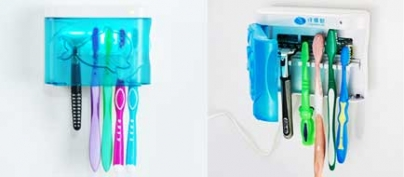 Anti-Bacterial UV-Ray Toothbrush Sterilizer / Holder