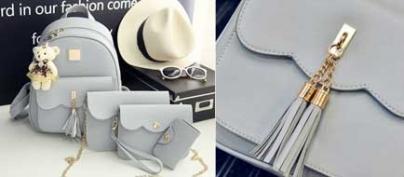Set of 4 Cute Blue Bags & Wallet (30% Off!)