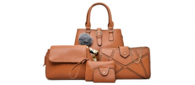 Beautiful Leather Brown Bag Set of 5 (45% Off!)