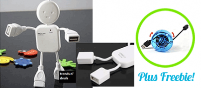 ₱251 Discount for the Humanoid-Shaped USB Hub (64% Off!)