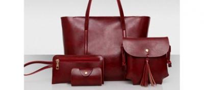 Euro-Style Dark Maroon Bag Set of 4 (38% Off!)