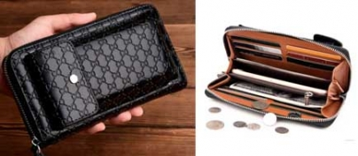 Men's Leather Wallet with Cellphone Casing (42% Off!)
