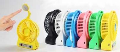Rechargeable Mini USB Fan & LED Lamp (40% Off!)