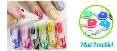 2-in-1 Korean Deco-Color / Nail Decorating Pen (10 Pen Set) (30% Off!)