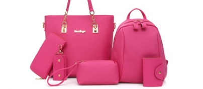 Set of High Quality 6 Ladies Pink Bags (63% Off!)