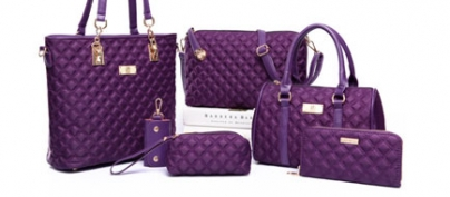 Luxurious Purple Bag Set of 6 (60% Off!)
