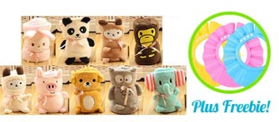 ₱170 Discount for the Ultra-Cute Animal-Shaped Baby Towel (34% Off!)