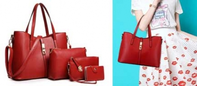 Western Style Red Bag Set of 3 + Free Wallet (50% Off!)