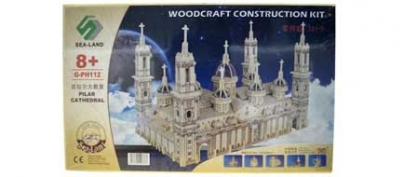 3D Wooden Cathedral Puzzle (50% Off!)