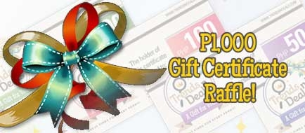 RAFFLE: ₱1,000 Trends n' Deals Gift Certificate Part 4
